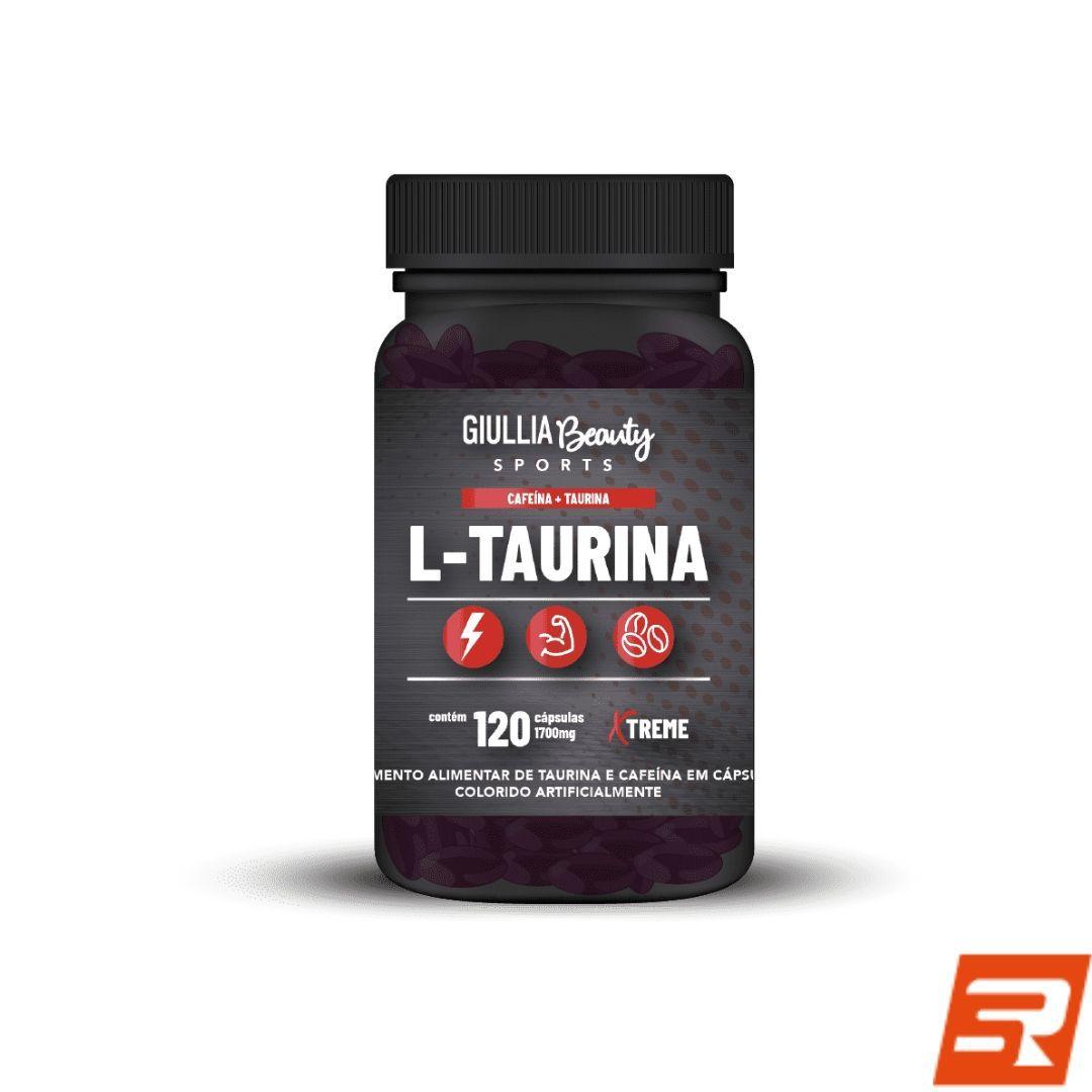 Taurina - 120 cápsulas | GIULLIA BEAUTY
