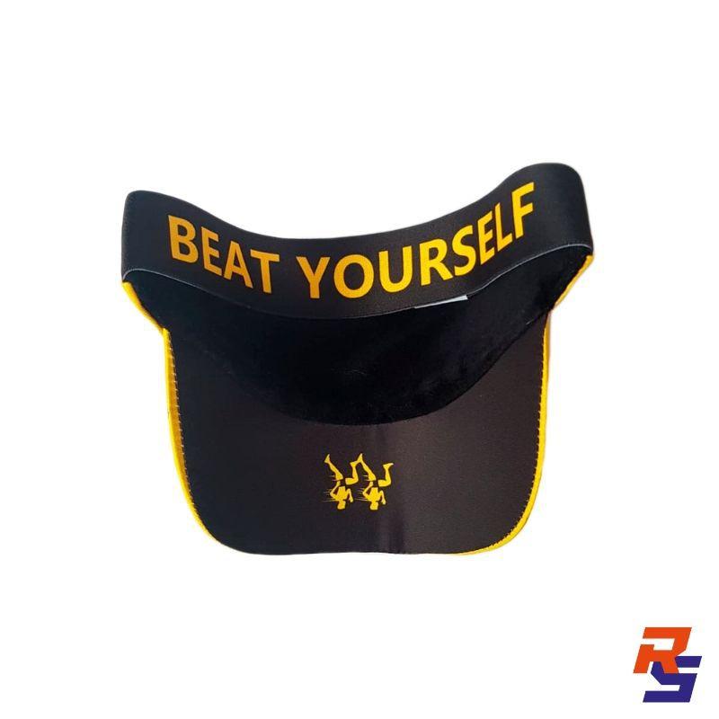 Viseira com Elásticos - Beat Yourself Amarelo Ouro  FAST PACE