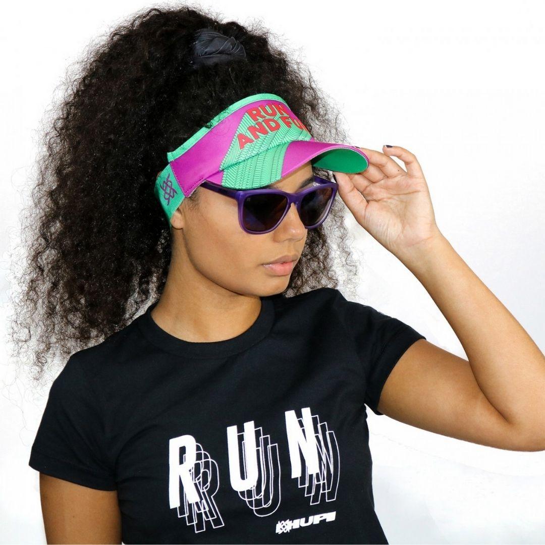Viseira com Elásticos - Run and Fun | HUPI