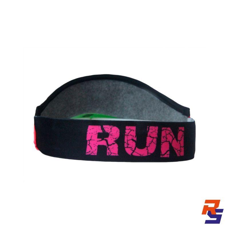 Viseira com Elásticos - Run Rosa | FAST PACE