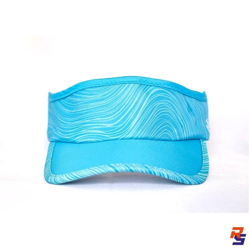 Viseira com Elásticos - Azul Curvas | RUNLASTIC