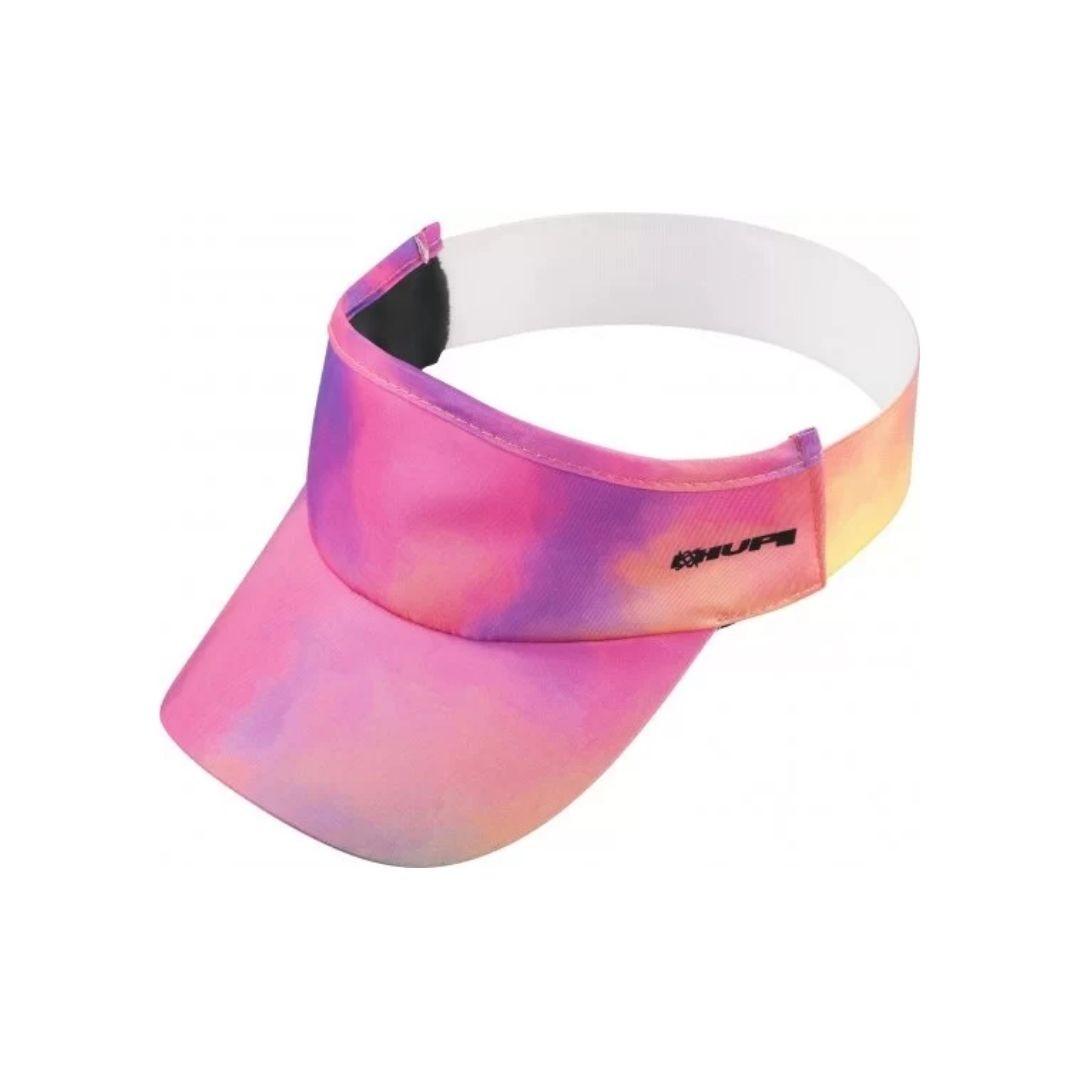 Viseira com Elásticos - Tie Dye Rosa e Roxo | HUPI