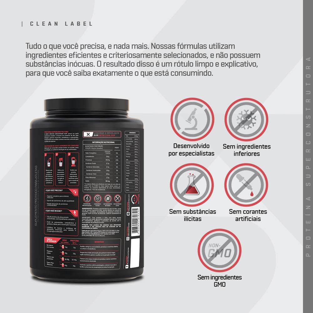 Whey Protein Concentrado - Pouch 1800g   DUX