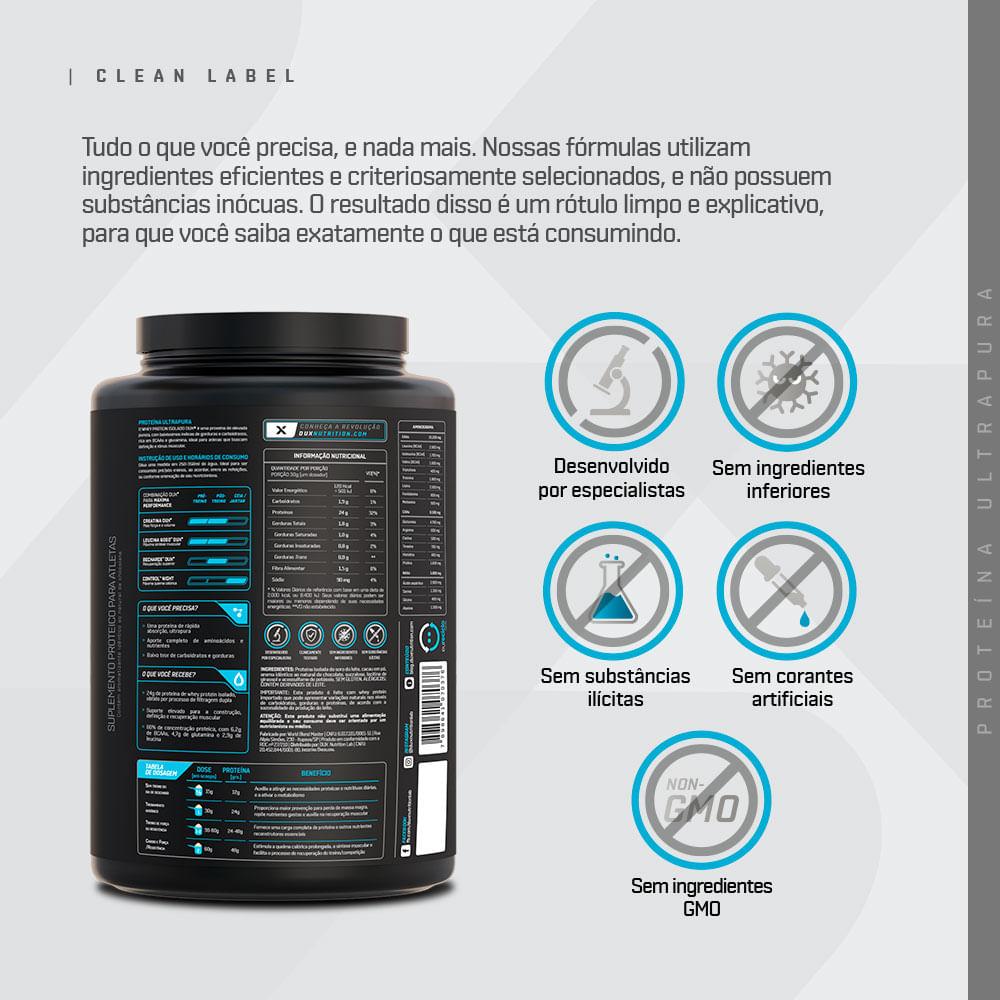 Whey Protein Isolado - Pote 900g | DUX