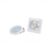 Kit Exaustor Para Banheiro e Ambiente  ITC-150 C/ Duto e Grade.