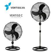 Ventilador de Coluna / Mesa  50cm VENTI50CP Preto com Grade em Pintura Epóxi Preta