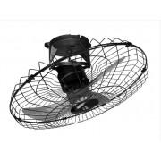 Ventilador De Teto Orbital 60 cm Giro 360° Loren Sid Preto Bivolt Grade Metal Preta