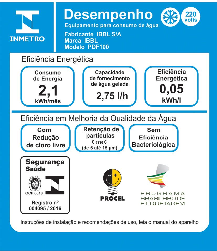 Bebedouro Acessível PDF100 ( PNE ) IBBL