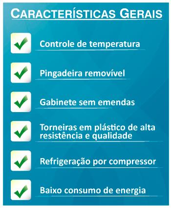 Bebedouro De Água Coluna Refrigerado Compressor  - Karina Modelo K20 Branco