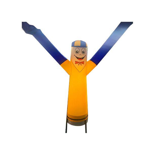 Boneco Biruta com Corpo Amarelo e Braço Azul