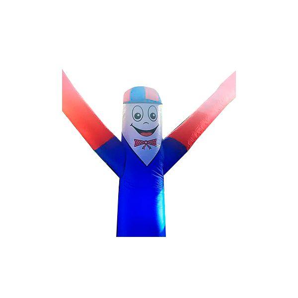 Boneco Biruta com Corpo Azul e Braço Vermelho
