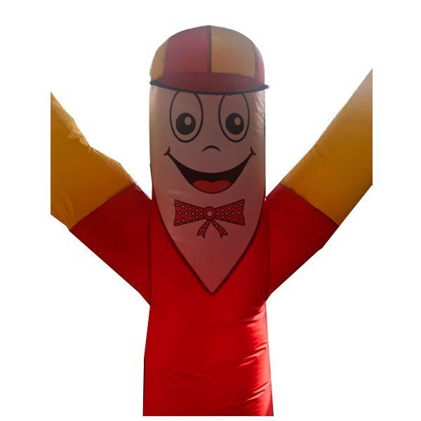 Boneco Biruta com Corpo Vermelho e Braço Amarelo
