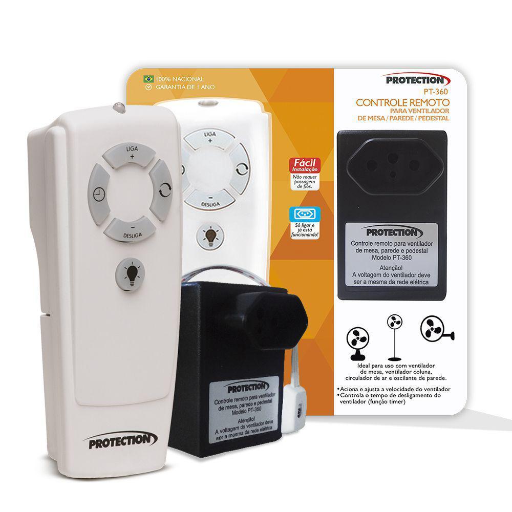 Controle remoto p/ ventiladores de mesa/pedestal/coluna Pt-360 - Protection