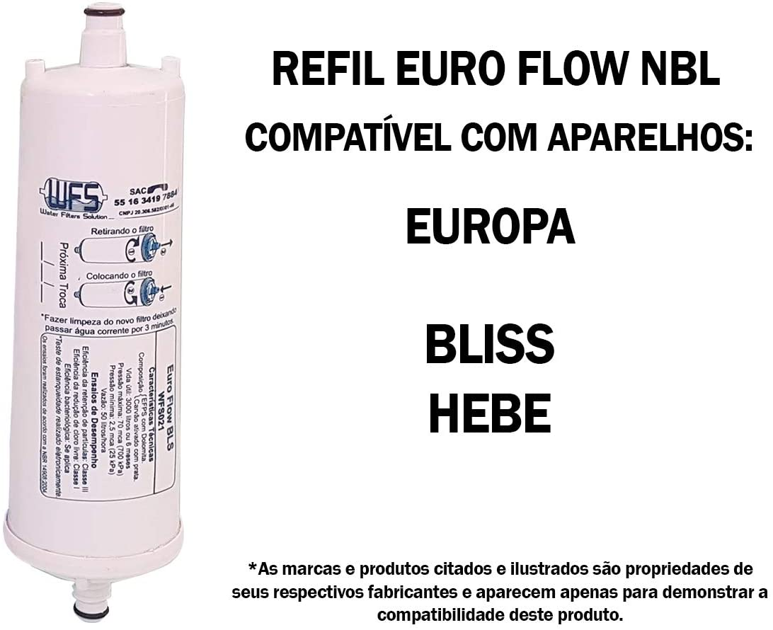 Filtro Refil Euro Flow BLS WFS 021 ( Europa Bliss, Hf By Hebe )