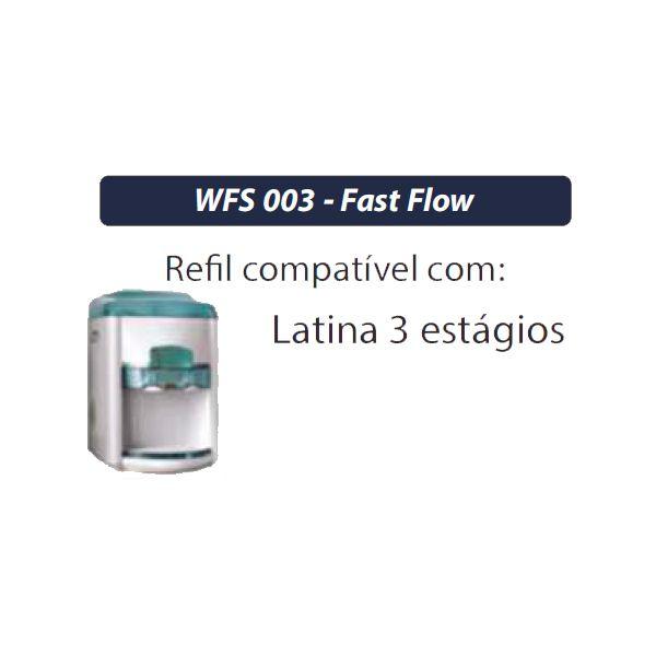 Filtro Refil Fast Flow ( Latina 3 Estágios) -  WFS 003