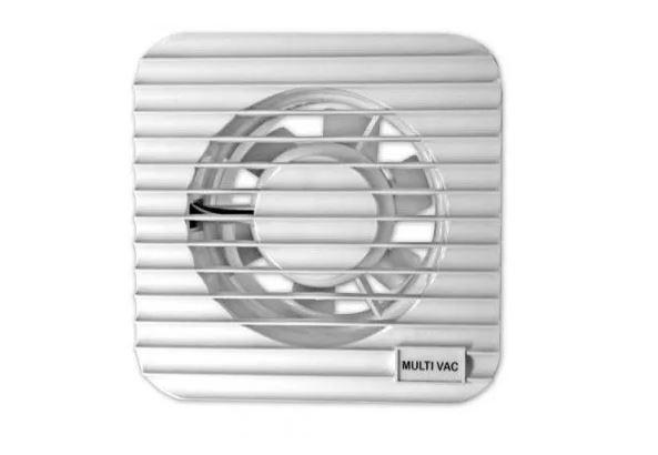 kit Exaustor para banheiro Muro 100mm c/ Duto e Grade