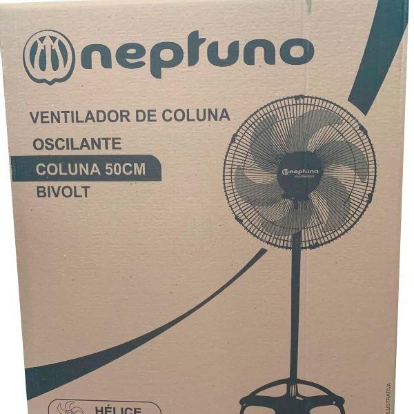 Ventilador De Coluna 50 cm Preto Tufão - Neptuno