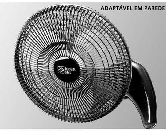 Ventilador De Mesa/Parede Loren Sid 30cm Preto