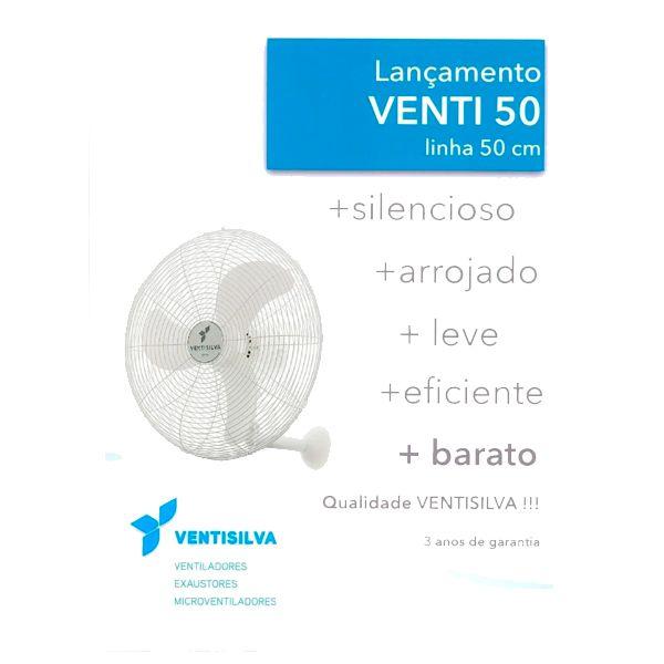 Ventilador de Parede 50cm VENTI50PB Branco - Ventisilva