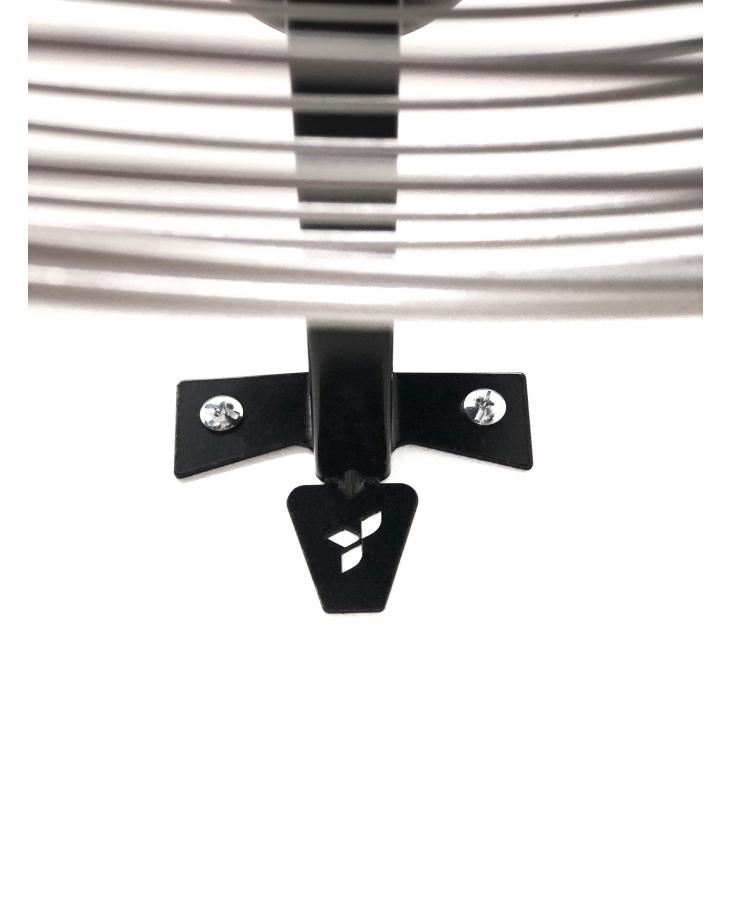 Ventilador de Parede VPL 65 cm Preto com Grade Em Pintura Epóxi Cromada