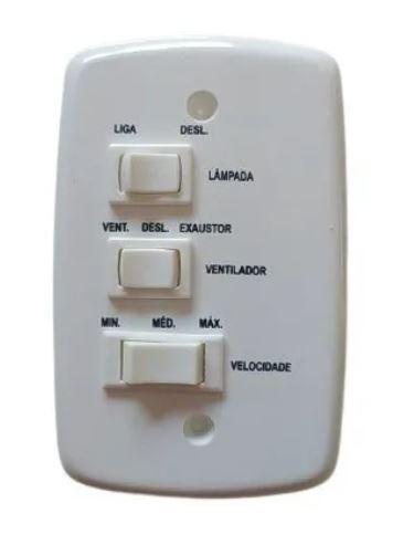 Ventilador De Teto Comercial 3 Pás sem Lâmpada