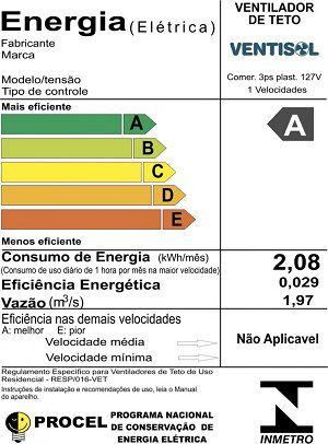 Ventilador de Teto Comercial Ventisol CZ