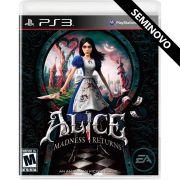 Alice Madness Returns - PS3 (Seminovo)