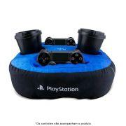 Almofada Porta Controle e Copos Playstation
