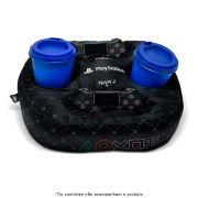 Almofada Porta Controle e Copos Simbolos Playstation