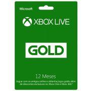 Cartão Xbox Live Gold 12 meses