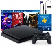 Console Playstation 4 Slim 1TB Mega Pack 3 com 3 Jogos