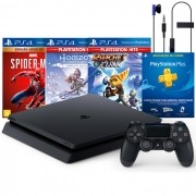 Console Playstation 4 Slim 1TB Mega Pack 4 com 3 Jogos