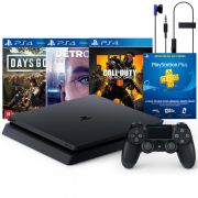 Console Playstation 4 Slim 1TB Mega Pack com 3 Jogos