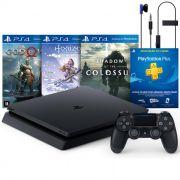 Console Playstation 4 Slim 1TB Pacote Hits com 3 Jogos