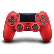 Controle PS4 Sem Fio Dualshock 4 Slim Vermelho