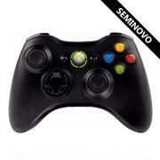 Controle Xbox 360 sem fio Microsoft (Seminovo)