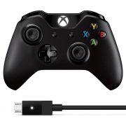 Controle Xbox One Sem Fio + Cabo para Windows