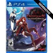 Deception IV The Nightmare Princess - PS4 (Seminovo)