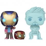 Funko Pop Morgan Stark e Tony Stark brilha no escuro (Vingadores: Ultimato)