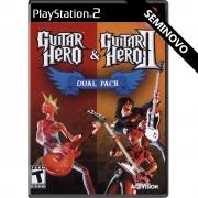 Guitar Hero & Guitar Hero 2: Dual Pack - PS2 (Seminovo)