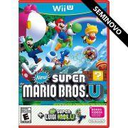 New Super Mario Bros. U + Super Luigi Bros U - Wii U (Seminovo)