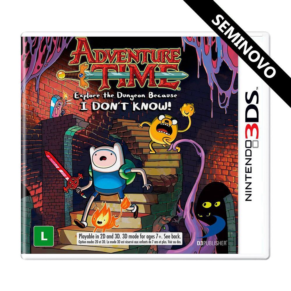 Adventure Time Explore the Dungeon Because I Don't Know - 3DS (Seminovo)