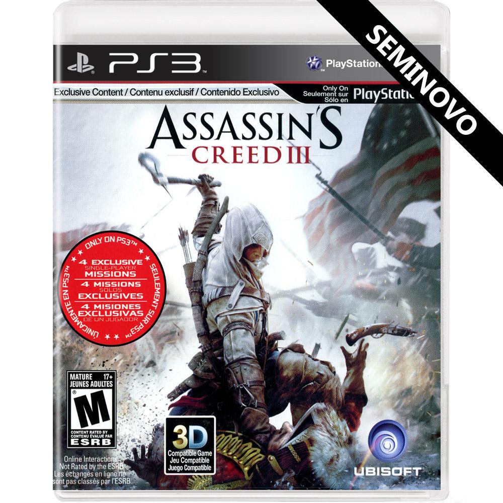 Assassins Creed III - PS3 (Seminovo)