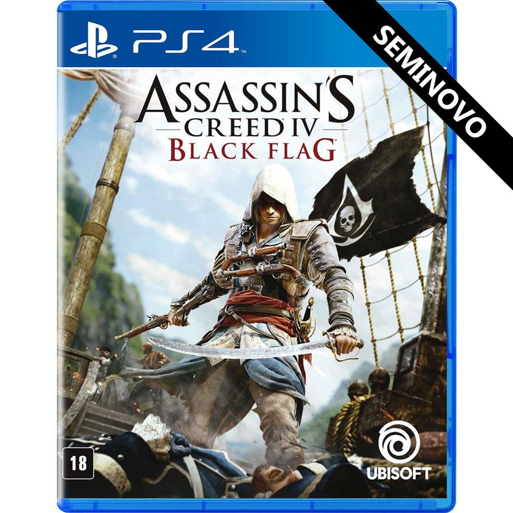 Assassins Creed IV Black Flag - PS4 (Seminovo)