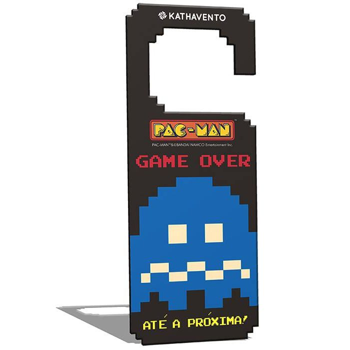 Aviso de Porta Pac-Man Game Over