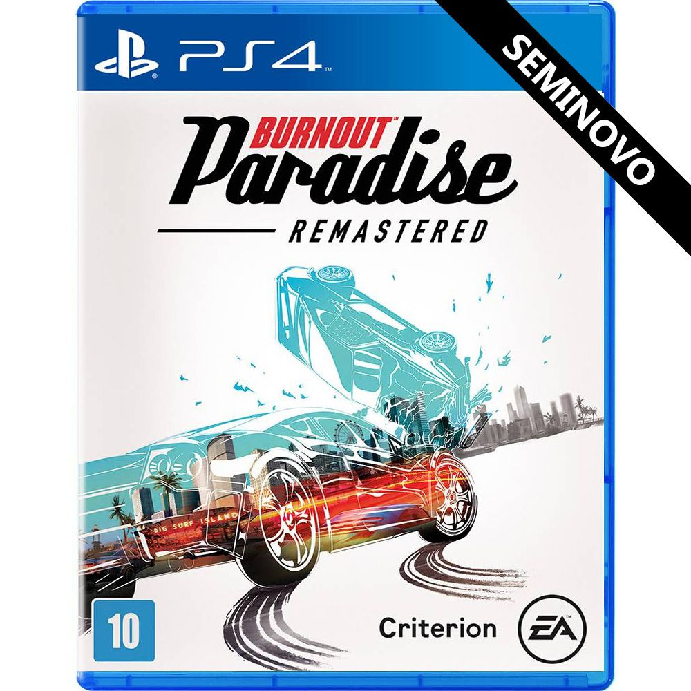 Burnout Paradise Remastered - PS4 (Seminovo)