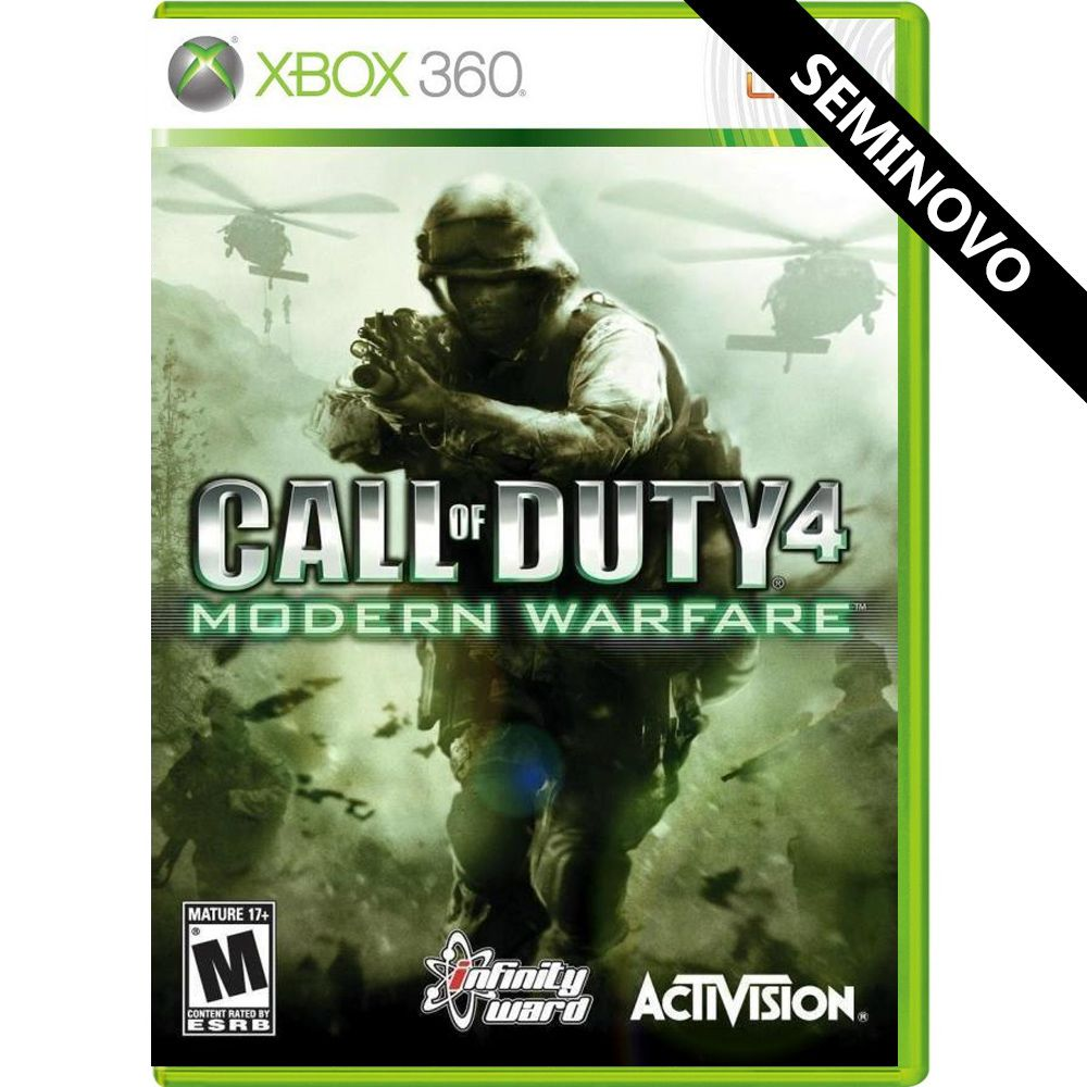 Call of Duty 4 Modern Warfare - Xbox 360 (Seminovo)