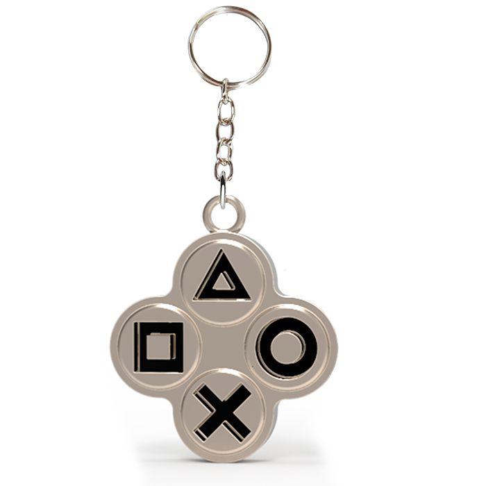 Chaveiro de Metal Botões Playstation