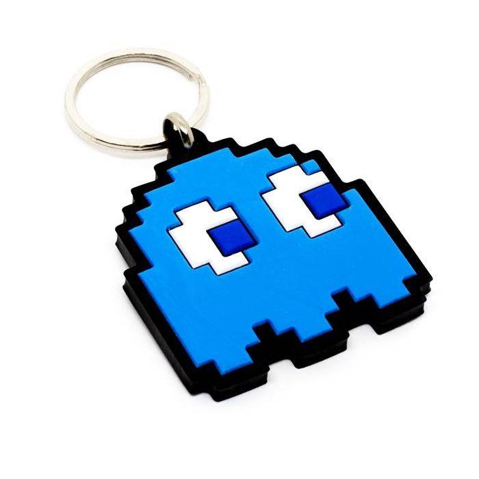 Chaveiro Emborrachado Fantasma Azul Pac-Man