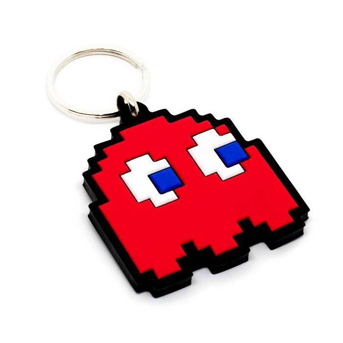 Chaveiro Emborrachado Fantasma Vermelho Pac-Man